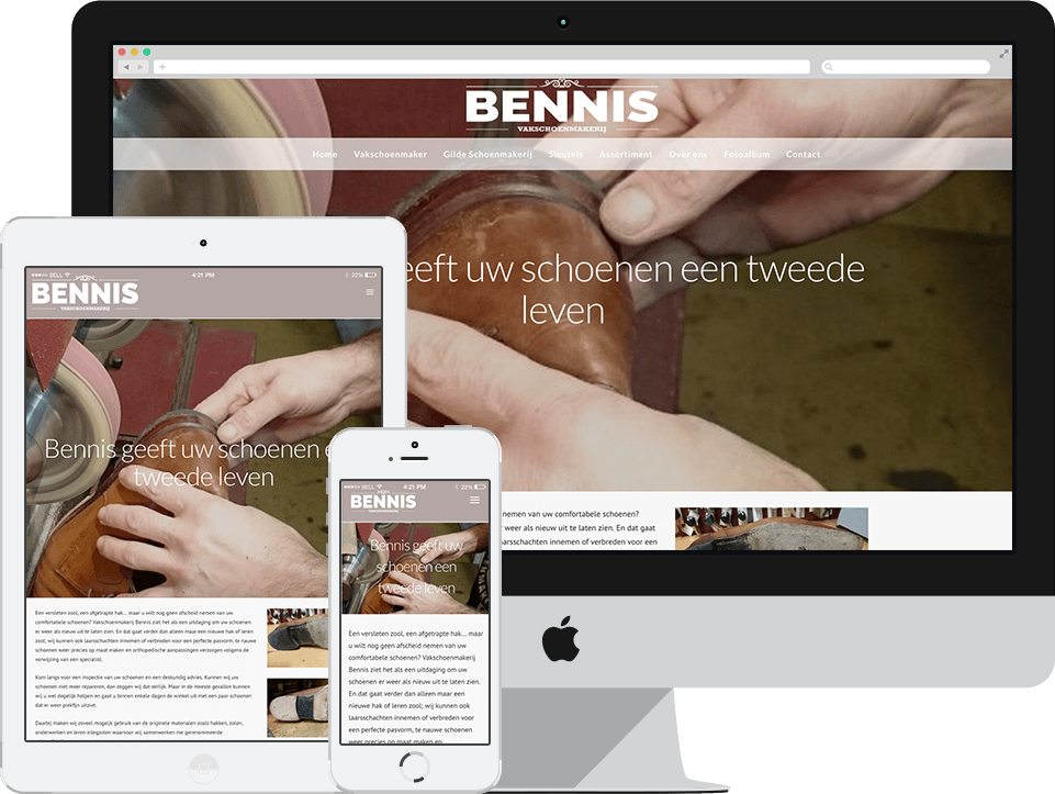 Website Vakschoenmakerij Bennis
