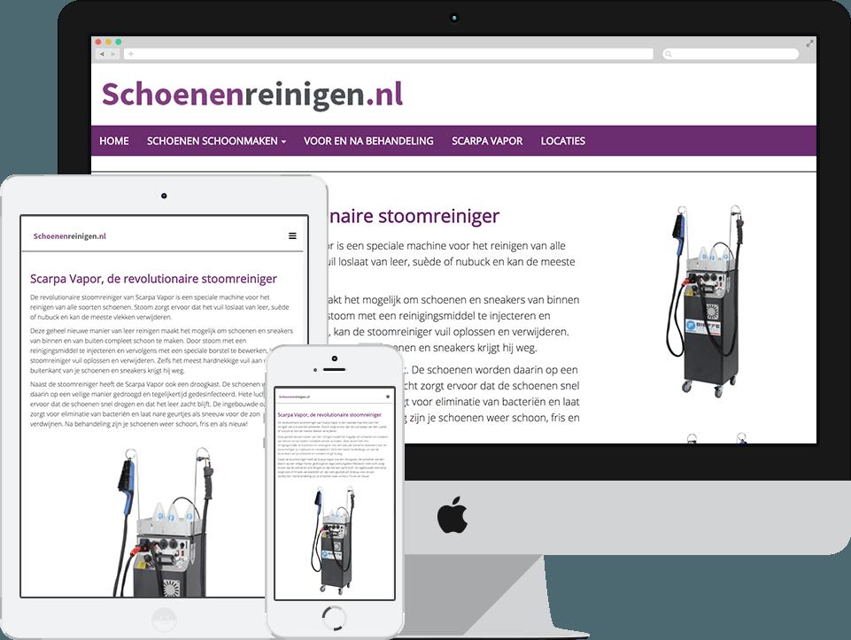 website schoenenreinigen.nl