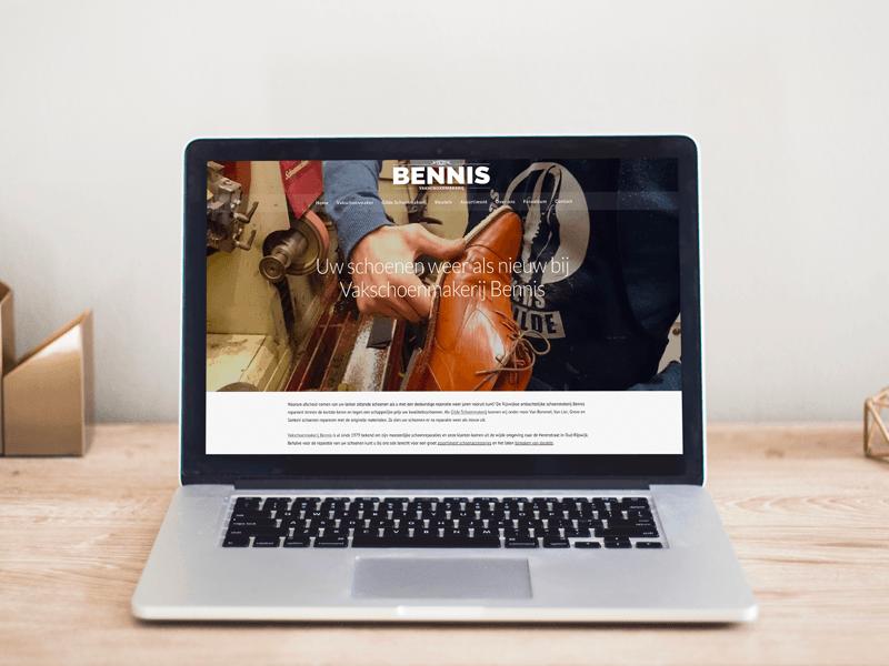 website voorbeeld Schoenmakerij Bennis