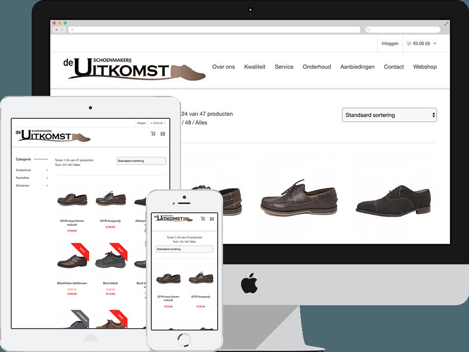 website voorbeeld schoenmakerij de uitkomst